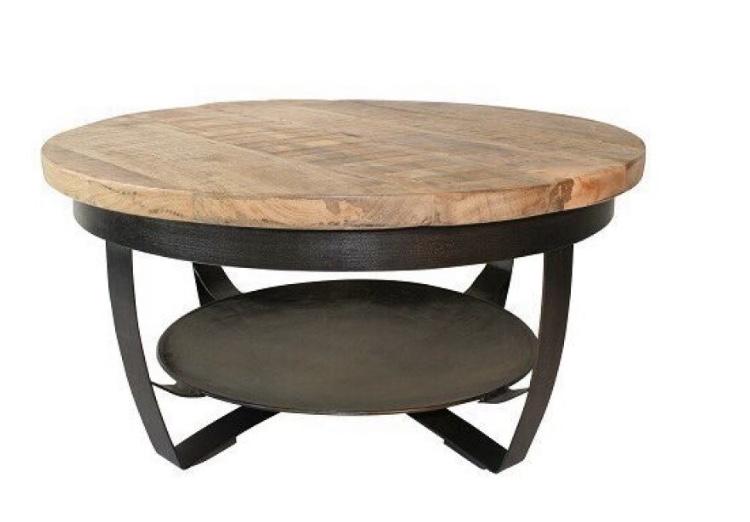 Salon-tafel-rond-mangohout-staal