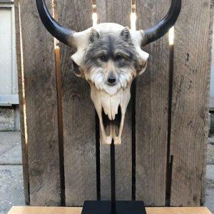 Skull staand wolf