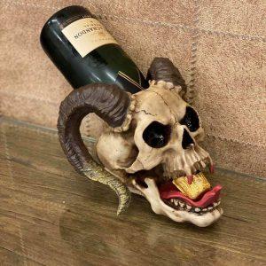 Skull drankhouder met tong