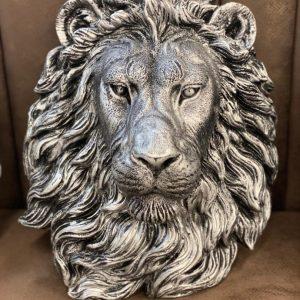 Leeuwenkop zilver