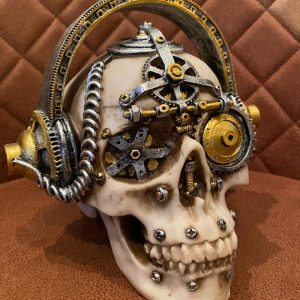 Steampunk skull headset