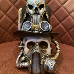 Steampunk skull gas mask