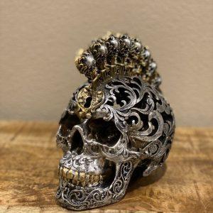Skull open gewerkt met bollen