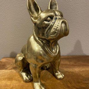 Bulldog antique goud